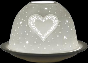 Porcelain Dome Light with LED base