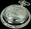 Father of the Groom Pocket Watch in Wedding Words design