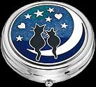 Cats on Moon Large Pill Box in Cats design