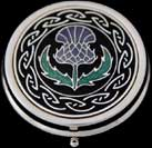 Large Pill Box in Scottish Thistle design