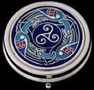 Large Pill Box in Celtic Birds design