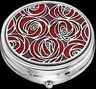 Large Pill Box in Mackintosh Rose Teardrop design