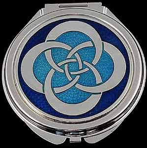 Compact Mirror in Celtic Eternity Knot Design