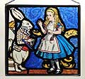 Alice and White Rabbit Window Panel in Alice in Wonderland design