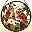Window Roundel in Barn Owls design