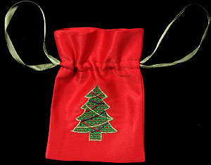 Christmas Tree Small Gift Bag with Lavender