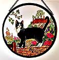 Window Roundel in Cottage Garden Cat design