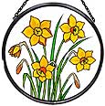 Window Roundel in Daffodils design