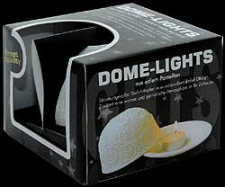Packaging for the Porcelain Dome Lights