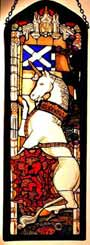 Window Panel in Edinburgh Unicorn design