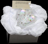 White Pearlescent Friendship Heart in box