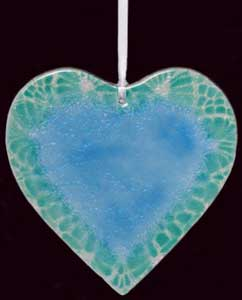 Turquoise Friendship Fused Heart
