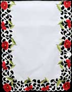 Table runner in Poppy design