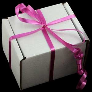 Friendship Heart box with pink ribbon