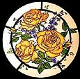 Static Window Cling in Golden Roses design
