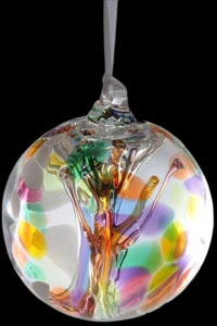 Happiness Tree of Life Glass Friendship Ball