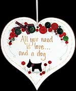 All you need... Hanging Heart Plaque