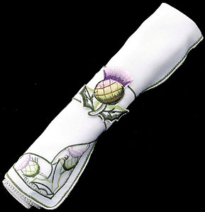 Pair of Lilac Thistle Table Napkins