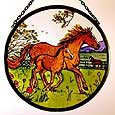Window Roundel in Horse and Foal design