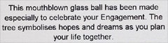Label for Wedding Tree of Life Glass Friendship Ball for Engagements