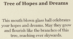 Label for Hopes and Dreams Tree of Life