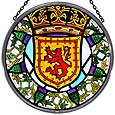Window Roundel in Scottish Lion and Thistle design