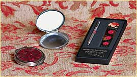Rennie Mackintosh Rose design compact and pen set