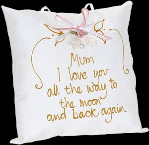 """Mum I love you..."" Hand-painted Pillow"