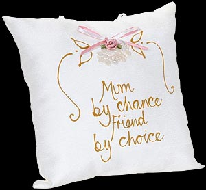 """Mum by chance..."" Hand-painted Pillow"