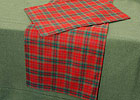 Table runner and table mat in Plaid design