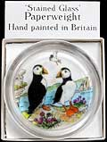 Paperweight in Puffins design