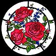 Static Window Cling in Red Roses design
