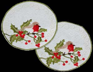 Pair of Small Round Doilies