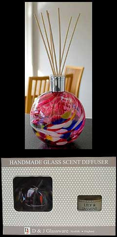 Lily and Jasmine Friendship Glass Globe Scent Diffuser
