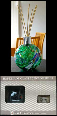 Citrus and Passion Fruit Friendship Glass Globe Scent Diffuser