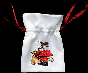 Santa Claus Small Gift Bag with Lavender