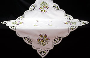 Small Lilac Thistle Table Cloth in Scottish Thistle Design