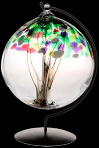 Spring Tree of Life Large Glass Friendship Ball