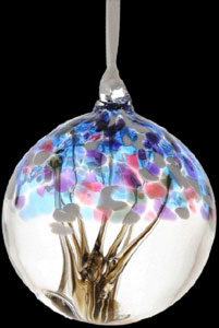 Winter Tree of Life Small Glass Friendship Ball