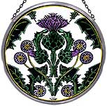 Large Window Roundel in Thistle Nouveau design