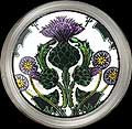 Paperweight in Thistle Nouveau design