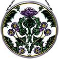 Window Roundel in Thistle Nouveau design