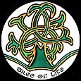 Static Window Cling in Celtic Tree Of Life design