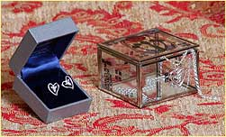 Jewellery box and Trinity Heart jewellery
