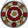 Window Roundel in Medieval Tudor Rose design