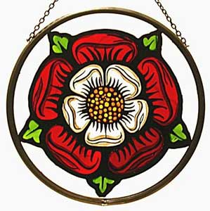 Elizabethan Tudor Rose Window Roundel