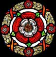 Static Window Cling in Medieval Tudor Rose design
