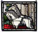 Window Panel in Two Horses design
