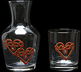 Water Set in Double Love Knot design